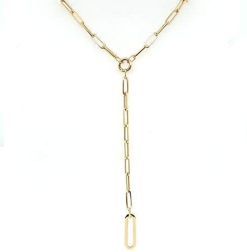 Paperclip Chain Lariat