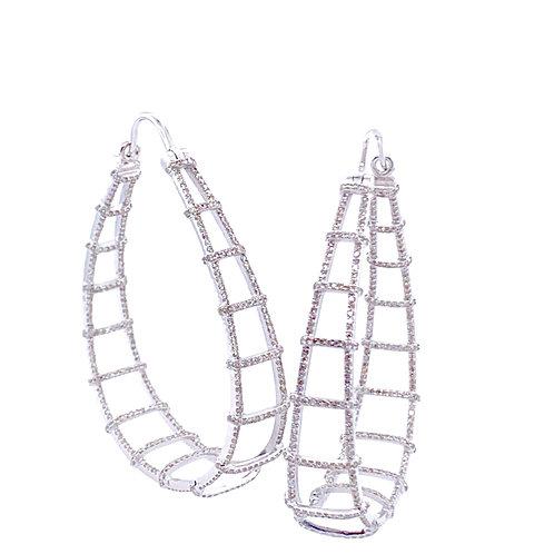 Diamond Ladder Hoops