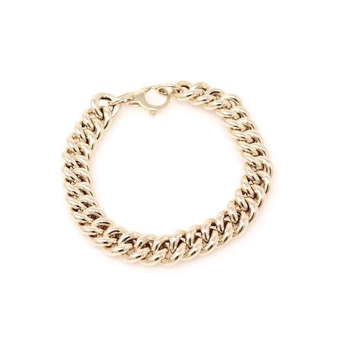 Wide Cuban Chain Bracelet