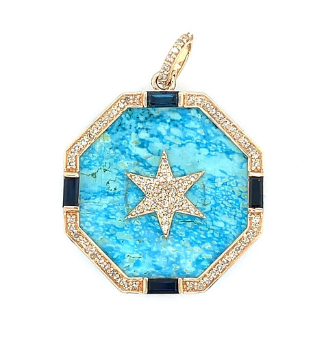 Turquoise and Sapphire Star
