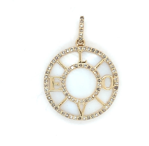 Mother Of Pearl Love Disk Charm