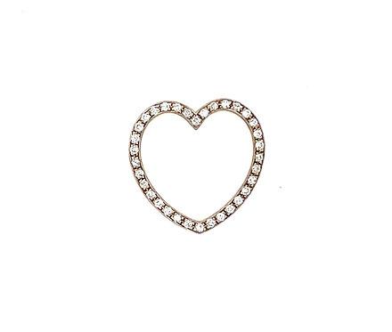 Open Diamond Heart