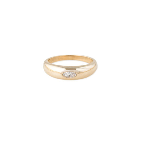 Dome Ring with Diamond