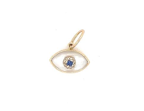 Mini Mother Of Pearl Evil Eye Charm