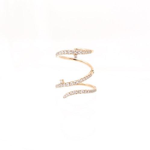 Flexible Diamond Spiral Ring