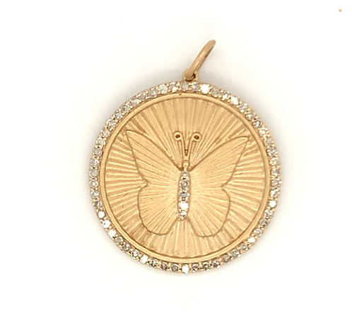 Butterfly Disk Charm