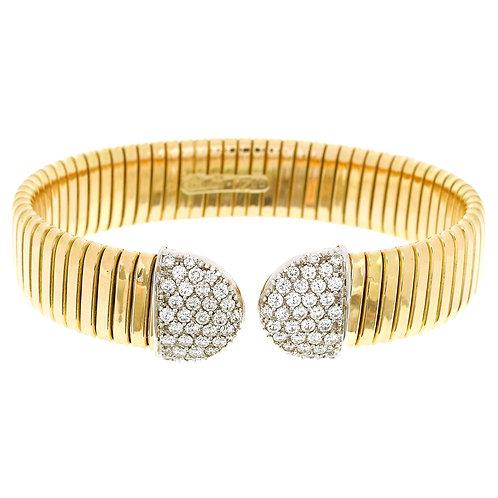 Wide Diamond Tubogas Cuff