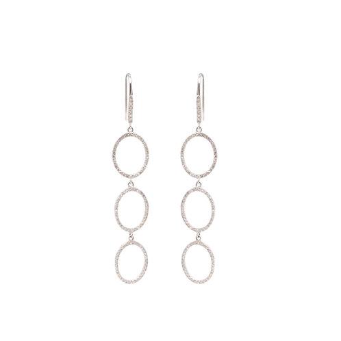 Three Circle Diamond Earrings