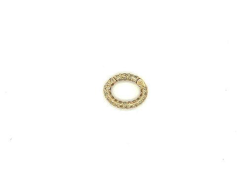 Oval Diamond Connector