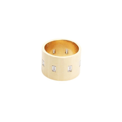 Cigar Band with Diamond Baguettes