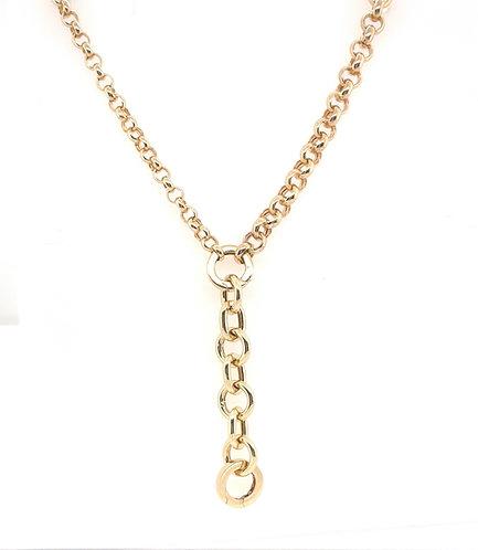 Multi Size Rolo Chain Lariat