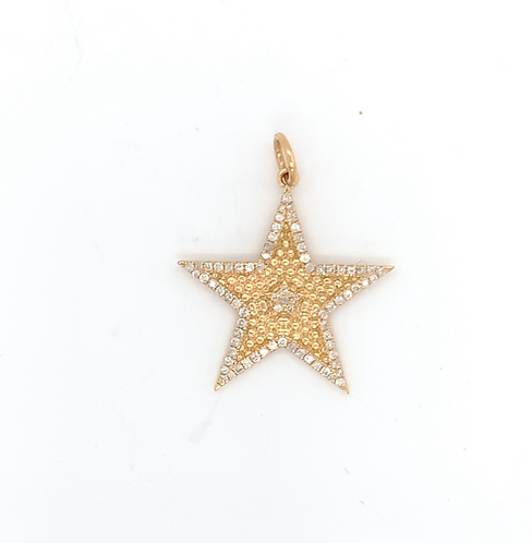 Diamond Border Star Charm