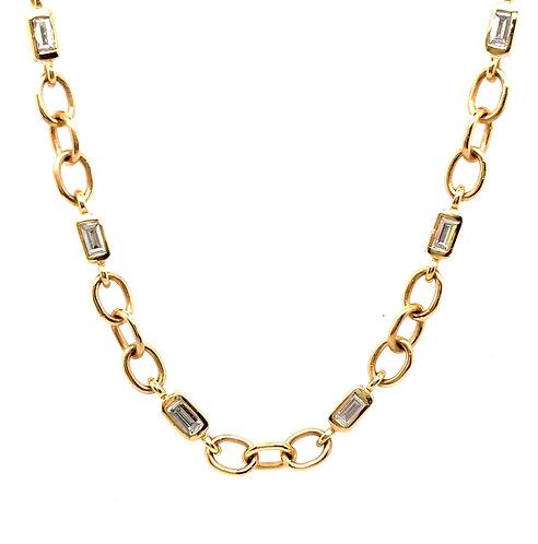 Diamond Chain Link Necklace