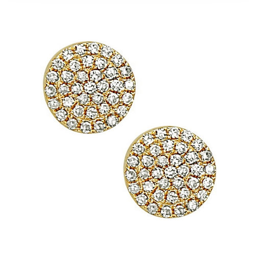 Pave Disk Earring