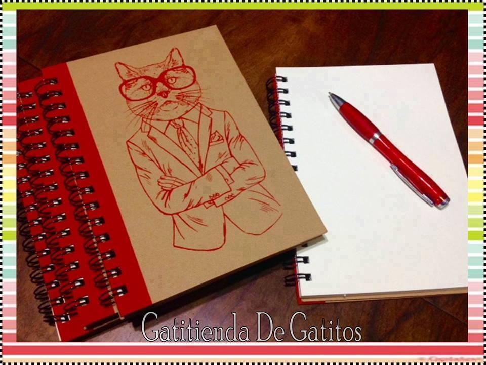 Cuadernos con Gatito Rojo
