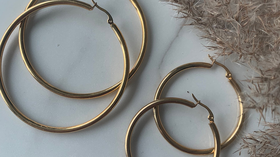 gold hoopies
