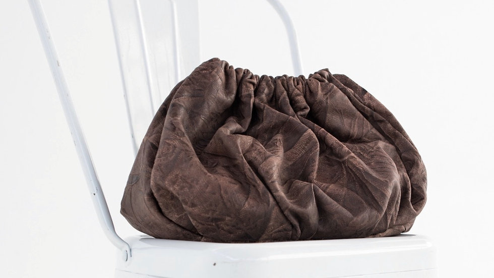 ruched leather