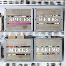 Stenciled crates