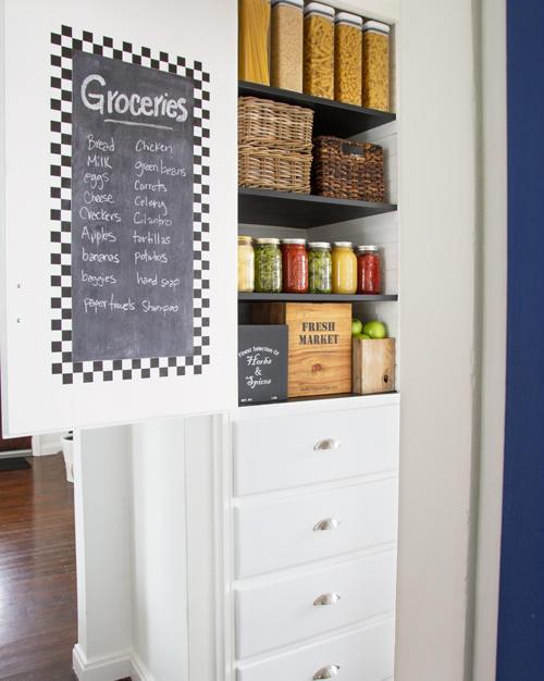 Chalkboard on pantry door
