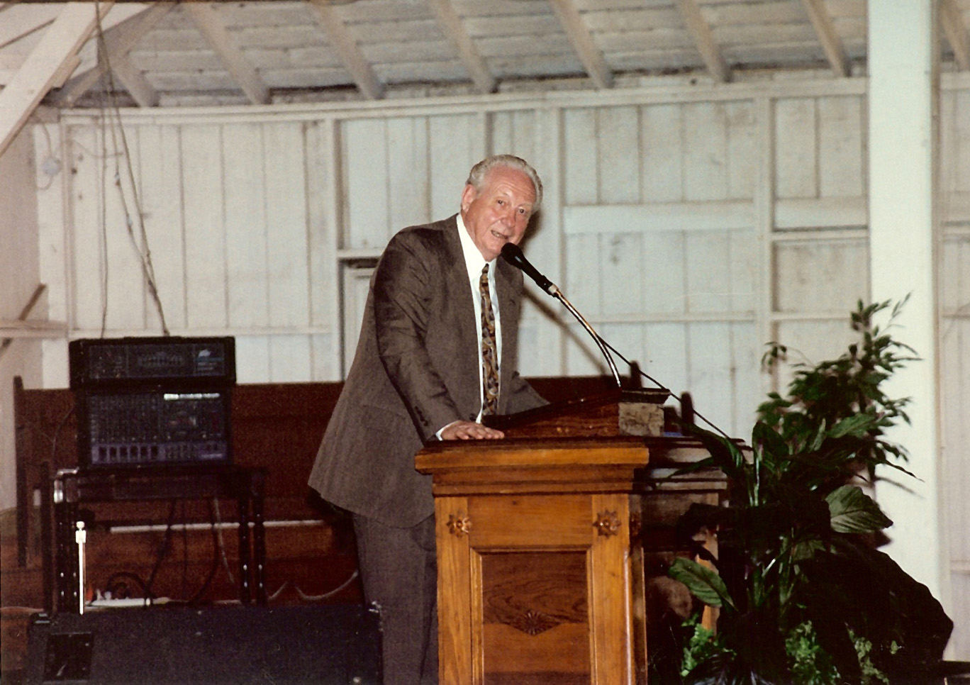 Bro Westberg at Miltonvale Camp