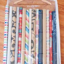 Gift wrap in hanging garment bag