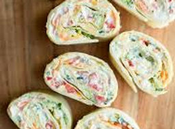 Vegetable Cream Cheese Tortilla Roll Ups