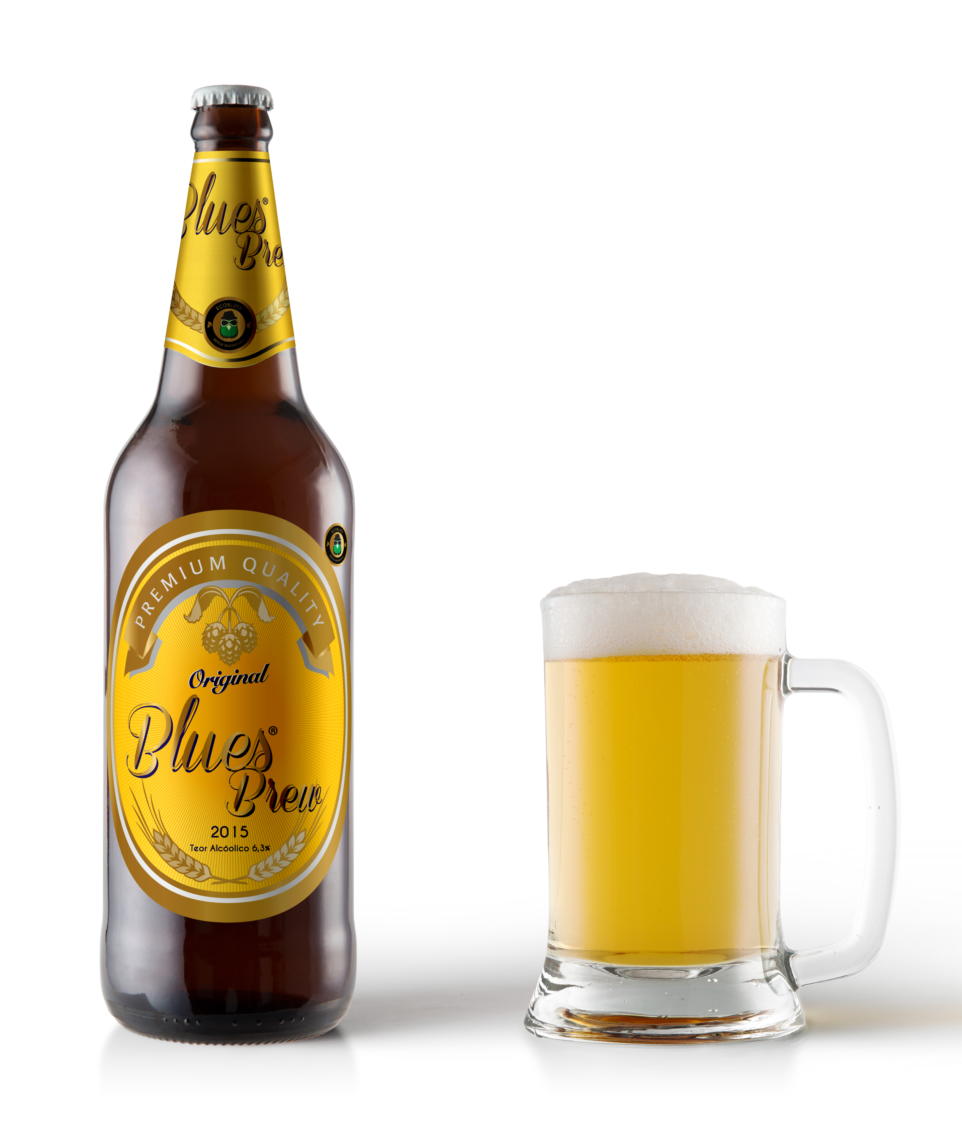 Rótulo Cerveja Artesanal Ecoblues