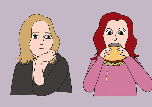 Illustration frånvarande / hunger