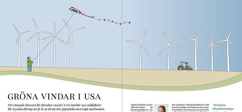 Illustration vindkraft