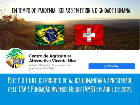 TURMALINA – CAV FIRMA PARCERIA COM ORGANIZAÇÃO SUÍÇA.