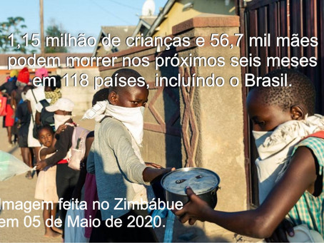 UM MILHÃO DE CRIANÇAS PODEM MORRER E UNICEF ALERTA SOBRE OS RISCOS DO LOCKDOWN.