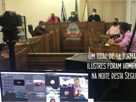 TURMALINA – NOITE DE HOMENAGENS NA CÂMARA MUNICIPAL.