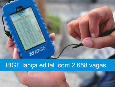 IBGE - CONCURSO PÚBLICO PARA VAGAS DE NÍVEL MÉDIO.