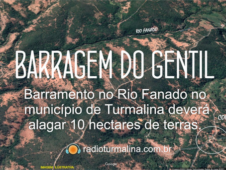 TURMALINA – BARRAGEM DO GENTIL NO RIO FANADO.