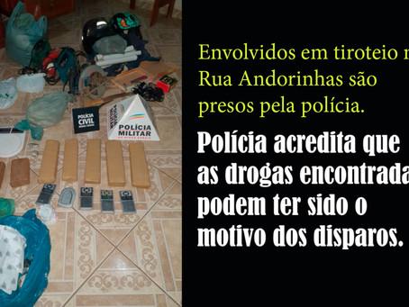 TURMALINA – TROCA DE TIROS E APREENSÃO DE DROGAS.