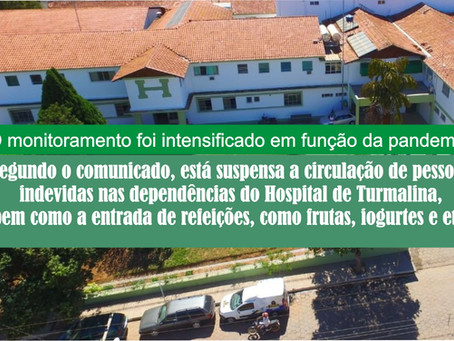 HOSPITAL DE TURMALINA MONITORA ENTRADA DE ALIMENTOS.