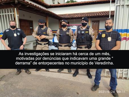 VEREDINHA - POLÍCIA PRENDE HOMEM DE 19 ANOS.