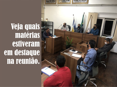 TURMALINA – REUNIÃO DA CÂMARA DESTA SEGUNDA-FEIRA.