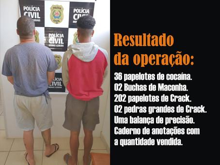 TURMALINA – POLÍCIA REALIZA MAIS UMA PRISÃO POR TRÁFICO.