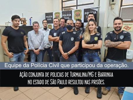 TURMALINA – INTERCÂMBIO ENTRE POLICIAIS CIVIS RESULTA EM PRISÕES.