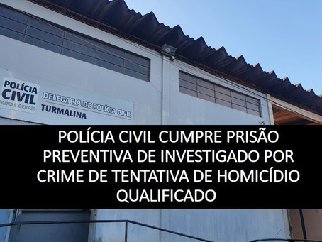 TURMALINA – HOMEM É PRESO POR TENTATIVA DE HOMICÍDIO.