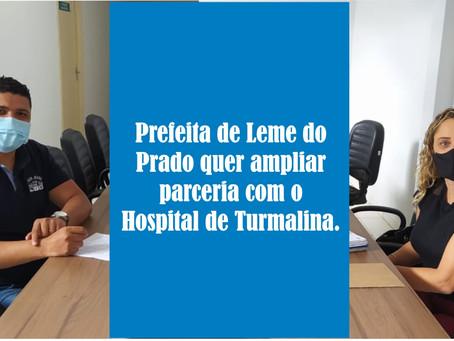 LEME DO PRADO BUSCA PARCERIA JUNTO AO HOSPITAL DE TURMALINA.