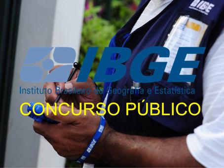 IBGE ABRE CONCURSO PARA RECENSEADOR.