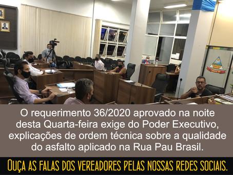TURMALINA – CÂMARA QUESTIONA BAIXA QUALIDADE DE ASFALTO.