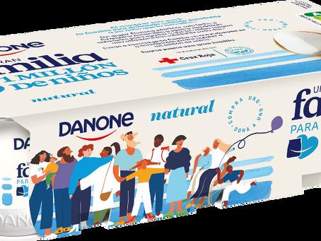 #UnaGranFamilia, la nueva iniciativa social de DANONE con Cruz Roja, FESBAL