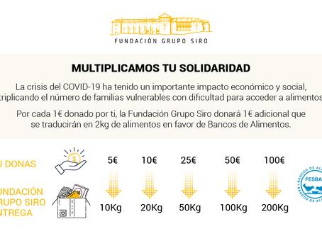 EL GRUPO SIRO MULTIPLICA TU SOLIDARIDAD CON LOS BANCOS DE ALIMENTOS