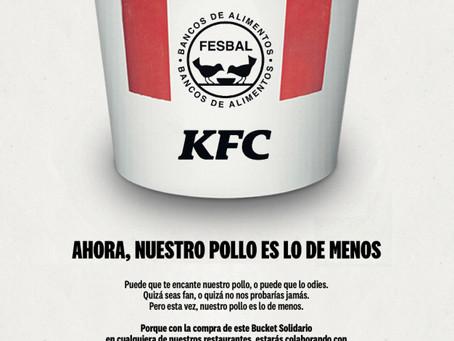 """NUEVA CAMPAÑA DE KFC: 'BUCKET SOLIDARIO"""", EN FAVOR DE LOS BANCOS DE ALIMENTOS"""