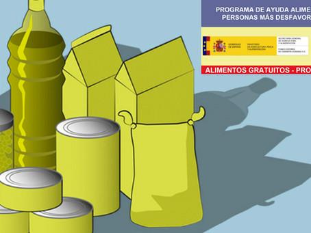 EN MARCHA EL PROGRAMA  2020 DE AYUDA ALIMENTARIA A LAS PERSONAS MÁS DESFAVORECIDAS