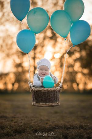 Familienfotografie, Kind, Natur, Foto, lachen, Luftballons