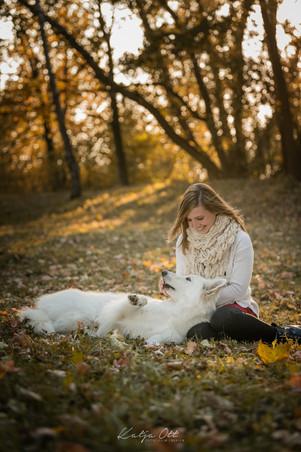 Fotografie Hund, Natur, Dog, Hund und Mensch, Weißer Schäferhund